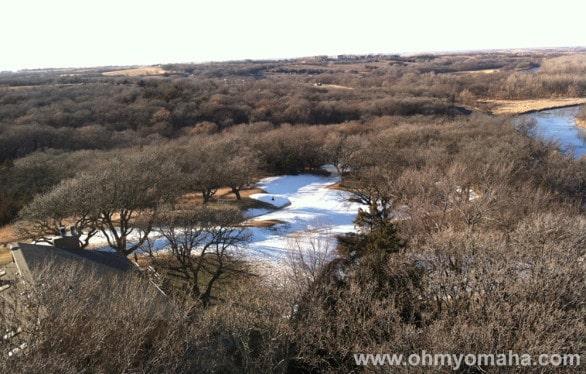 A view of the toboggan run at Mahoney State Park.