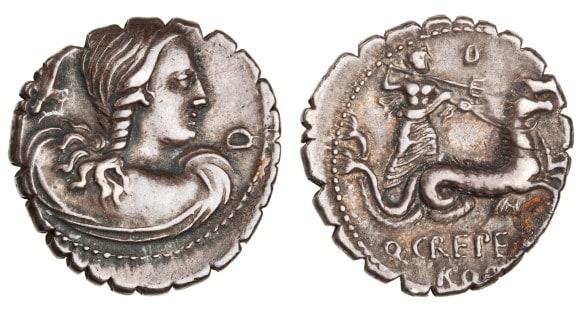 Denarius Goddess coin at Joslyn Art Museum