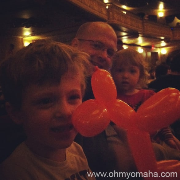 Mr. Wonderful, the kids and the lone surviving balloon animal.