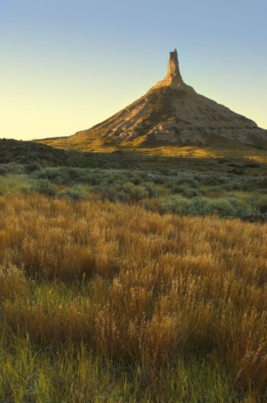 Chimney Rock, one of Nebraska's most recognizable landmarks. Photo courtesy Nebraska Tourism