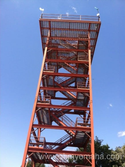 This tall tower provides a great view of the Platte River.