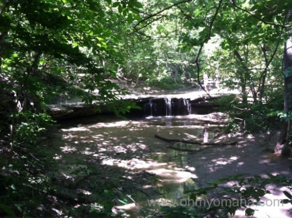 A short hike at Platte River State Park is all it takes to find one of the few natural waterfalls close to Omaha.