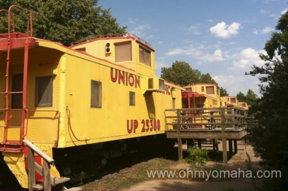 You can stay overnight in one of the cabooses at Two Rivers SRA. You can bet it's a hit with children.