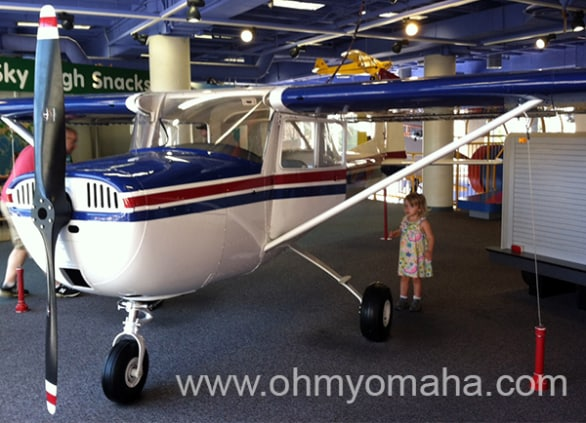 Kids can get inside this airplane.