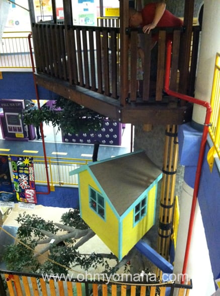It's hard to capture all three levels of the Lincoln Children's Museum in one shot.