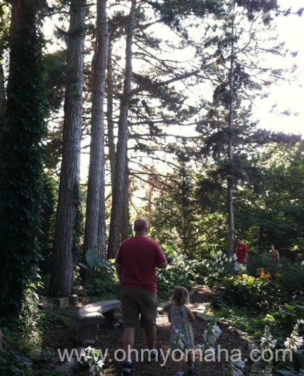 Most of the gardens are not shaded, but we enjoyed this short, shaded trail.