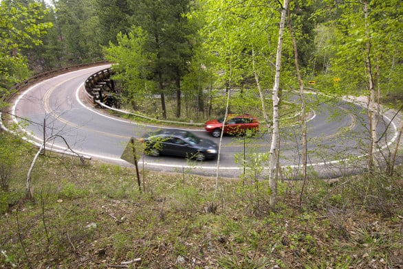 Hope the kids aren't the type to get car sick. Here's a shot of Iron Mountain Road. Photo courtesy South Dakota Tourism