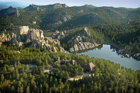 The picturesque Sylvan Lake at Custer State Park. Photo courtesy South Dakota Tourism