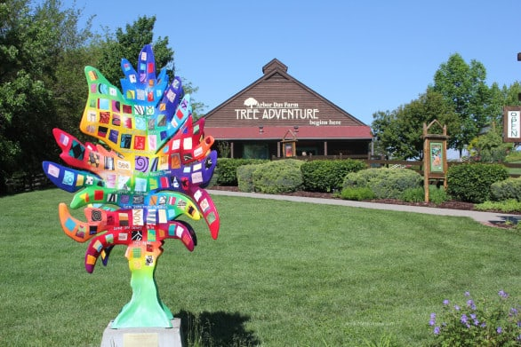 Arbor Day Farm Tree Adventure entrance