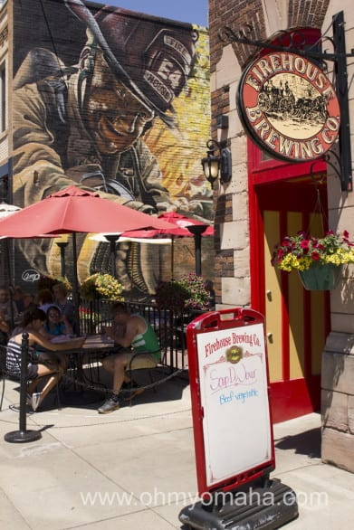 The entrance to Firehouse Brewing Company in Rapid City. If it's not scorching hot, sit outside.