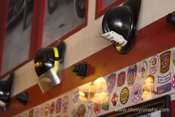 Firehouse memorabilia decorates the walls of Firehouse Brewing Co.