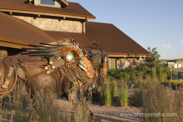 Coolest restaurant art I've seen in a long: The Dakotah buffalo. Side note, order a buffalo dish here.