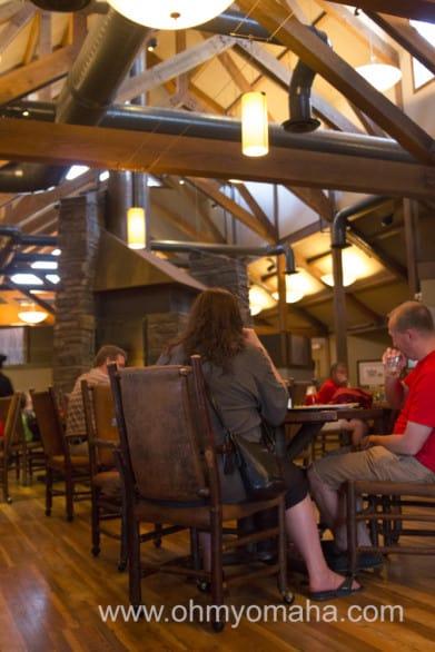 The view inside Dakotah Steakhouse. Not super dressy, right?