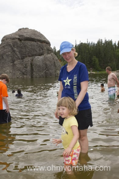 Next time we'll wear our swimsuits to Sylvan Lake.