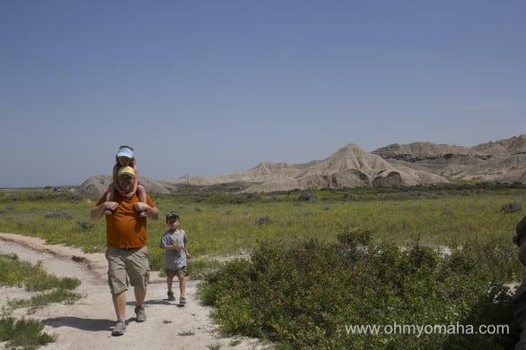 The easy path at Toadstool Geological Park in Western Nebraska.