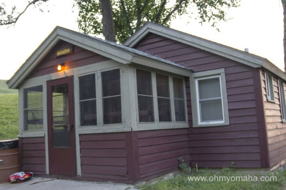 Our two-bedroom cabin at Chadron State Park. Cozy is a nice way to describe it.