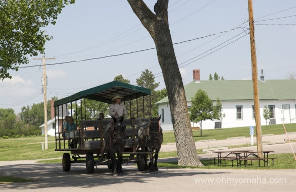 The horse-drawn tour is a historical tour of the park. We skipped it since the kids were a little young for it still.