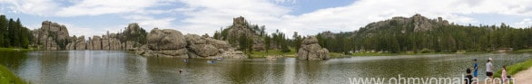 You can't capture the beauty of Sylvan Lake in a photo - we tried.