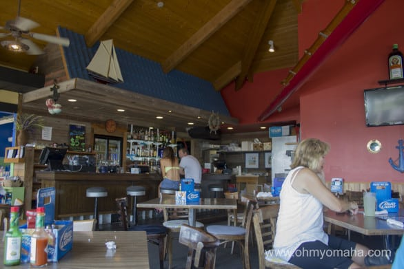 Inside the Boat House Bar and Grill at Branched Oak