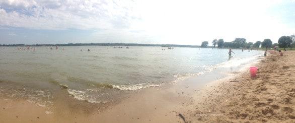 LIebers Pointe Beach at Branched Oak southeastern Nebraska.