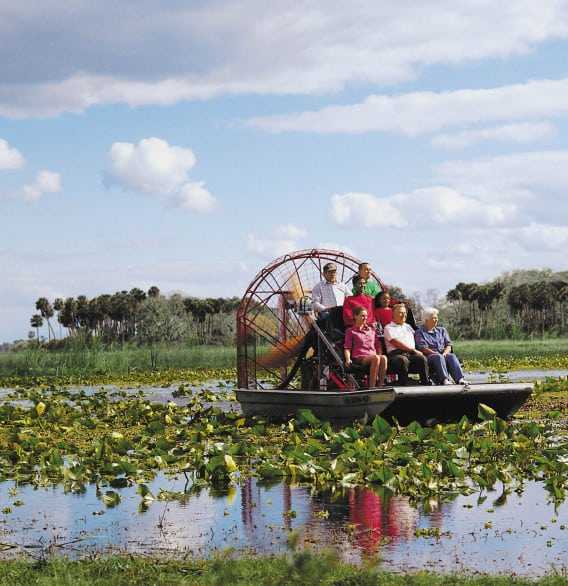 Airboating in Seminole County, Florida, just north of Orlando. Photo courtesy Seminole County