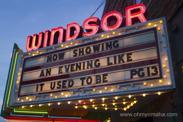 The Windsor Theatre in Hampton, Iowa.