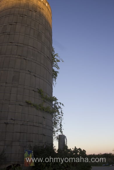 A silo at TownsEnd Winery in Iowa.