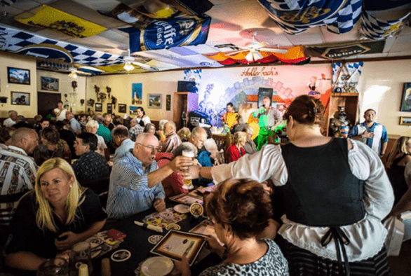 The dining situation at Hollerbach, Looks like a fun place to dine, right? Especially when the band plays. Photo courtesy Seminole County