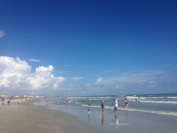 Cocoa Beach is about an hour drive from Seminole County, Florida, where the Orlando Sanford International Airport is located.