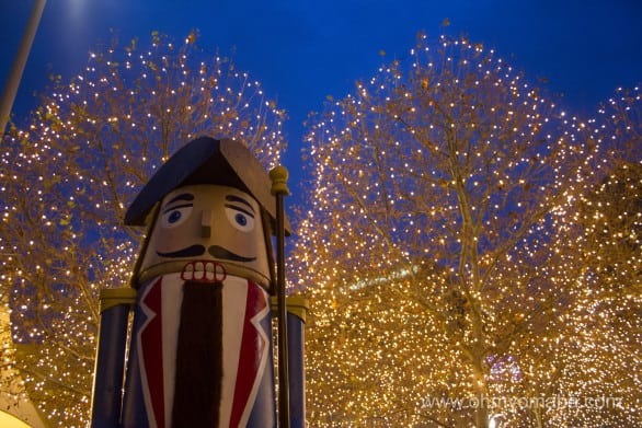 One of the many nutcrackers at Crown Center in downtown Kansas City, Missouri.