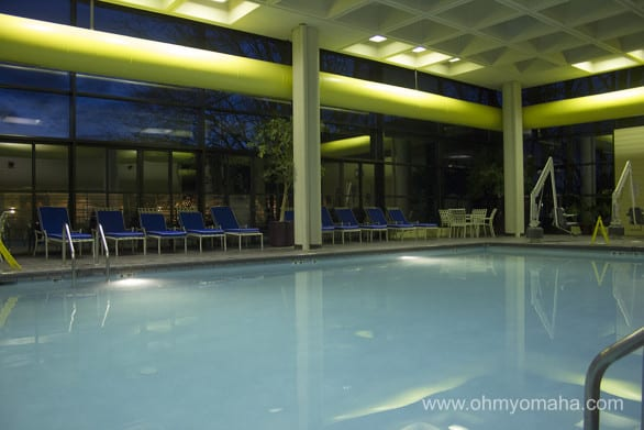 The DoubleTree pool, AKA, the best part of the hotel according to my kids.
