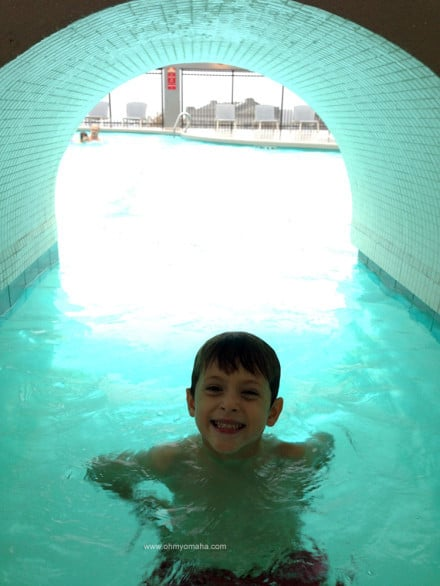 OK, I'll admit, the tunnel was fun for me to swim through too.