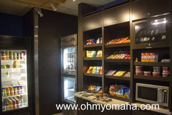 The Courtyard's lobby shop sold snacks, frozen dinners and beverages.