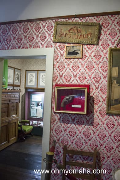 The Jesse James House, the very house where the infamous outlaw was shot and killed. The bullet home is marked by a picture frame for those curious enough to seek it out.