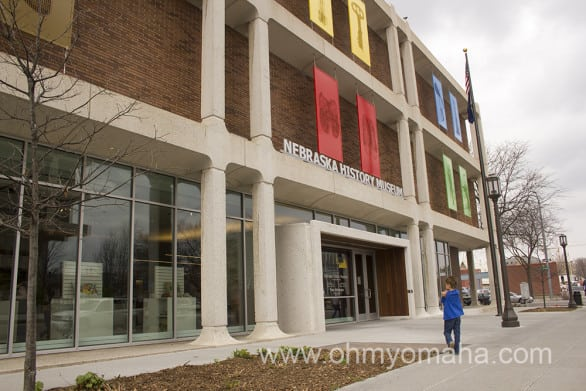 """The Nebraska History Museum exterior was freshened up just as the interior was. """"Inside Out"""" is the name of the artwork on the walls, showing pedestrian and passing cars a hint of what's inside."""