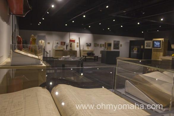 Artifacts on the second floor of the Nebraska History Museum.