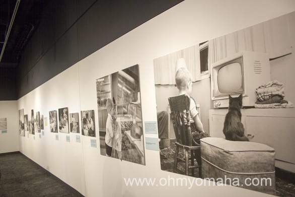 """Photos in the exhibit """"American Dreams in the Cold War: Photos by Barbara and Ralph Fox."""""""