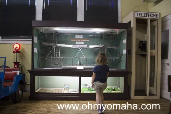 You never know just what will catch the eye of a kid. Mooch was fascinated by this display case.