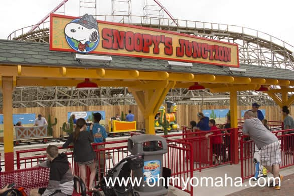 Snoopy's Juction is a kid-sized train ride, which ended up being my preschooler's favorite ride.