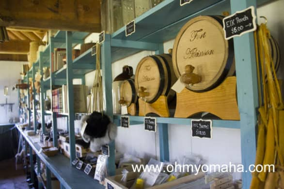 The general store at Fort Atkinson is a working store where you can buy gifts, treats and, apparently, barrels.