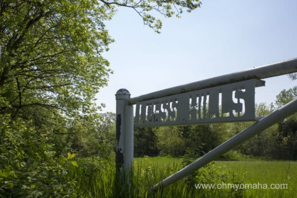 A sign for the Loess Hills in Preparation Canyon State Park.