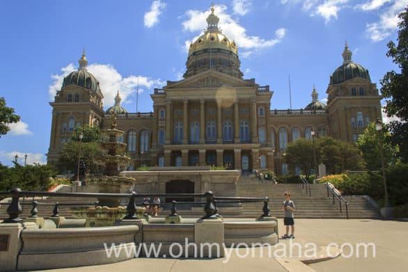 Iowa's impressive state capitol.