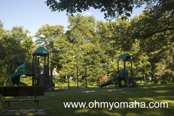 Younger kids will enjoy the playground at McKintosh Woods State Park.