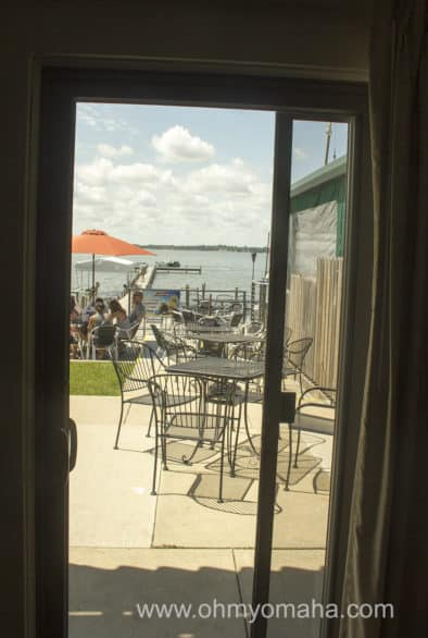 Here's the view from our room at South Shore Inn. Why hello, Clear Lake!