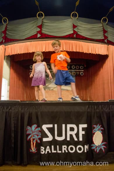 Can any kid resist getting on stage? My kids loved being on the Surf Ballroom's stage, where many musical legends have played.