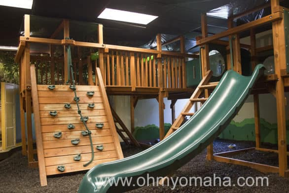 The playground in the basement of the visitor's center at Fontenelle Forest.